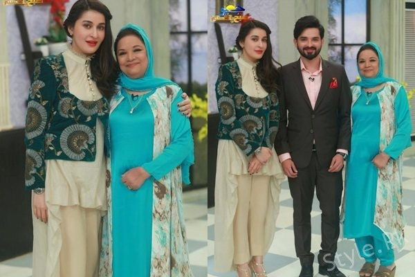 See Noman Habib with his Mother at Geo Subha Pakistan