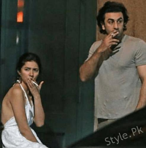 Mahira Khan With Ranbir Kapoor Shooking Pictures
