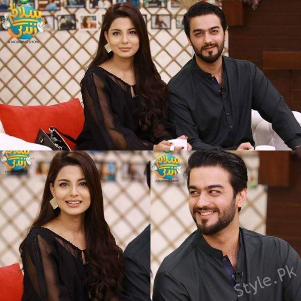 See Ahmad Zeb with his wife in Salam Zindagi
