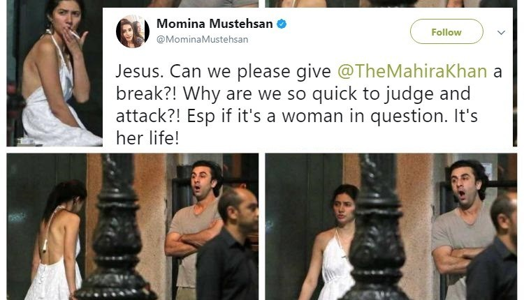 See Celebrities Supporting Mahira Khan on her Backless Pictures with Ranbir Kapoor