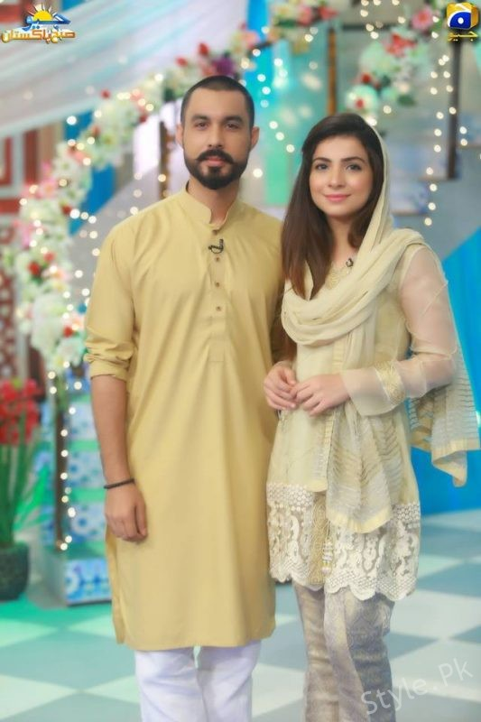 Dua Malik And Sohail Haider In Shaista Lodhi Morning Show