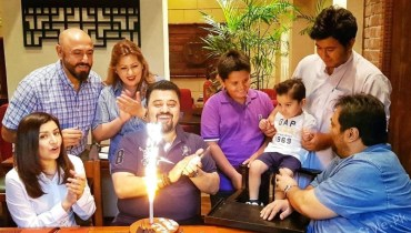 Ahmed Ali Butt Celebrating His Birthday With Family