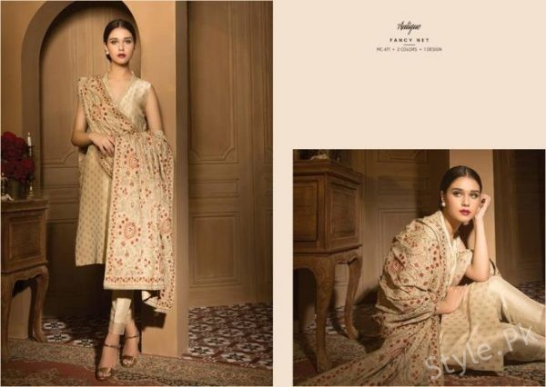 Bareeze Winter Dresses collection Shawl Designs 2017-18