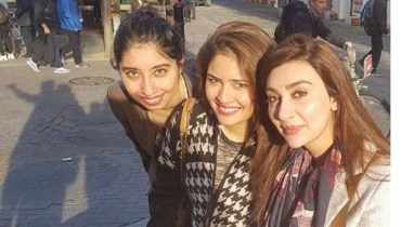 Ayesha Khan Enjoying Winters in London
