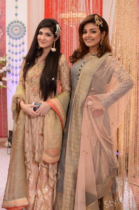 Actress Aleezay Tahir And  Isha Noor in Nida Yasir Show