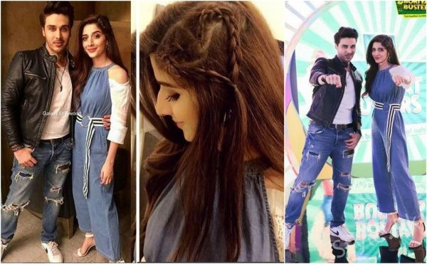 Mawra Hocane With Ahsan Khan In Game Show By Knorr Noodles
