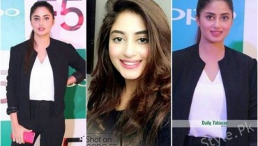 Sajal Aly At The Launch Of Oppo F5 In Lahore