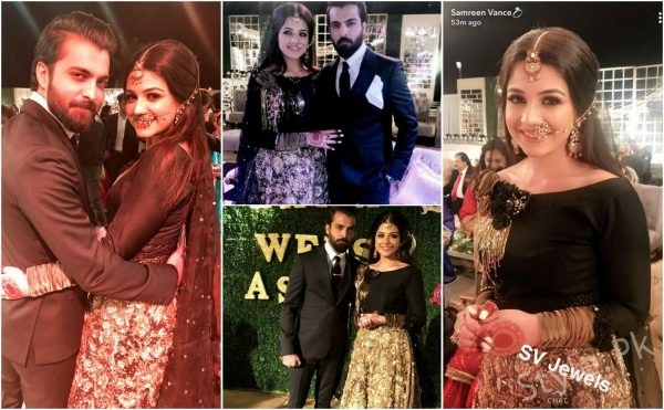 Zara Noor Abbas And Asad Siddique Walima Pictures