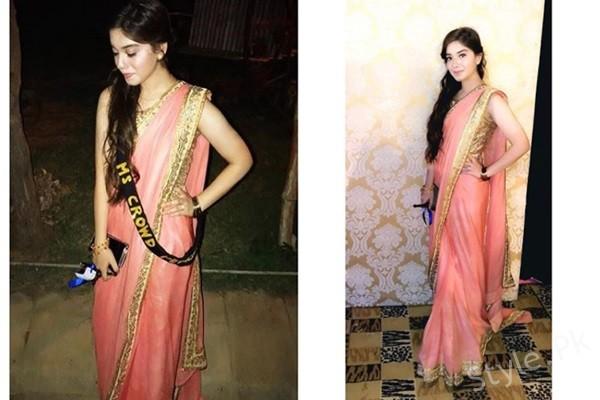 See Arisha Razi Looks Beautiful in Saree