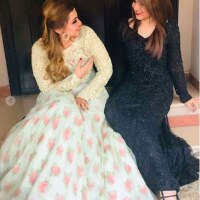 Gorgeous Aima Baig At Her Sister Nadia Baig Engagement