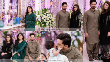 Nouman Habib With His Wife And Daughter In Sanam Baloch Show