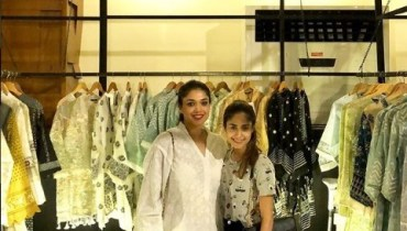 SeeSanam Jung with her Sister Anum Jung at her Store