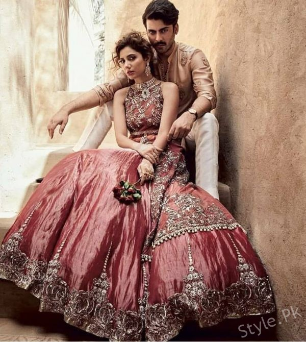 Beautiful Bridal Shoot Of Mahira Khan And Fawad Khan For Indian Magazine