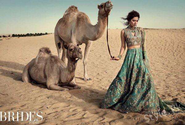 Beautiful Bridal Shoot Of Mahira Khan And Fawad Khan For Indian Magazine
