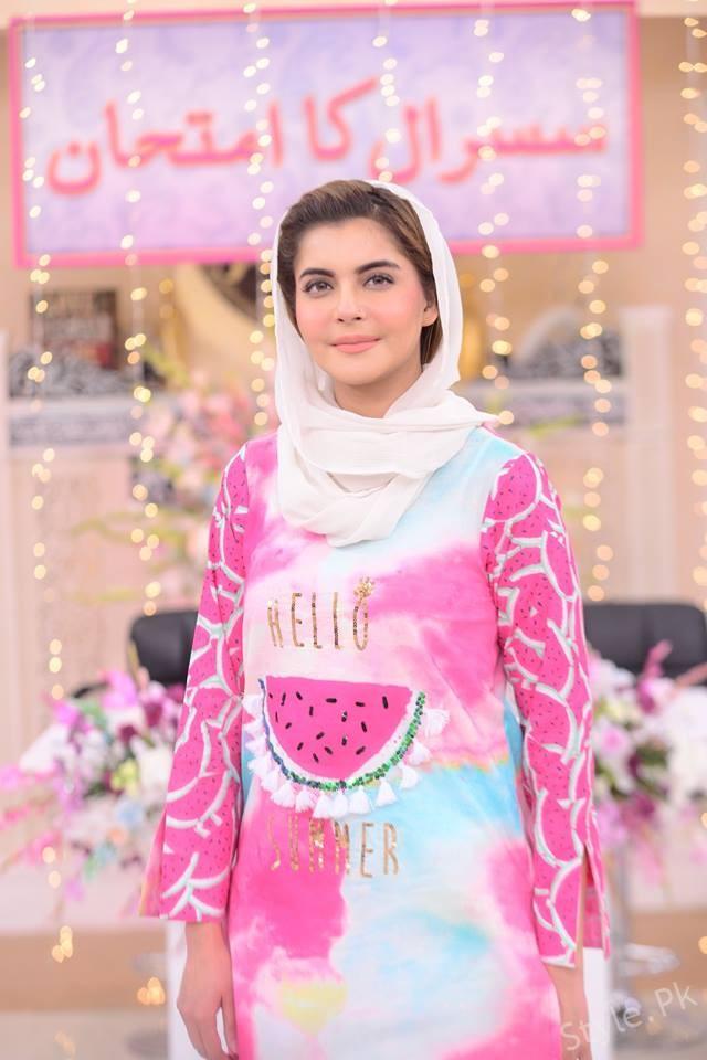 Beautiful Nida Yasir In Good Morning Pakistan Morning Show