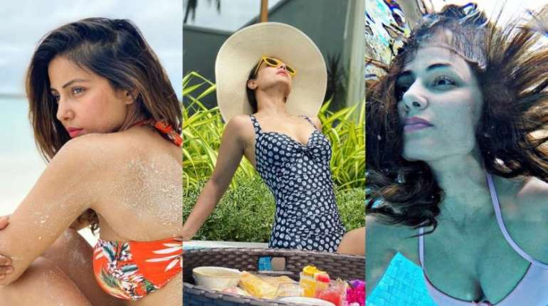 Hina Khan raised the temperature with her swimwear clicks