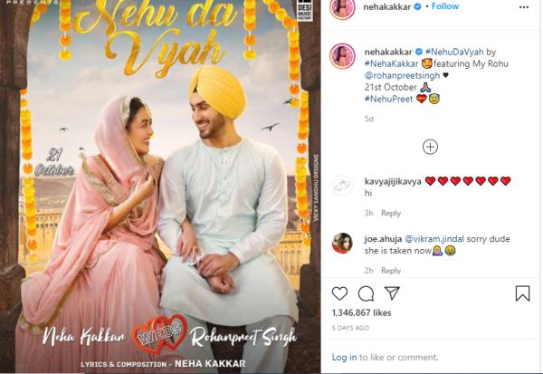 Neha Kakkar to marry Rohanpreet Singh on Oct 26 in Mohali
