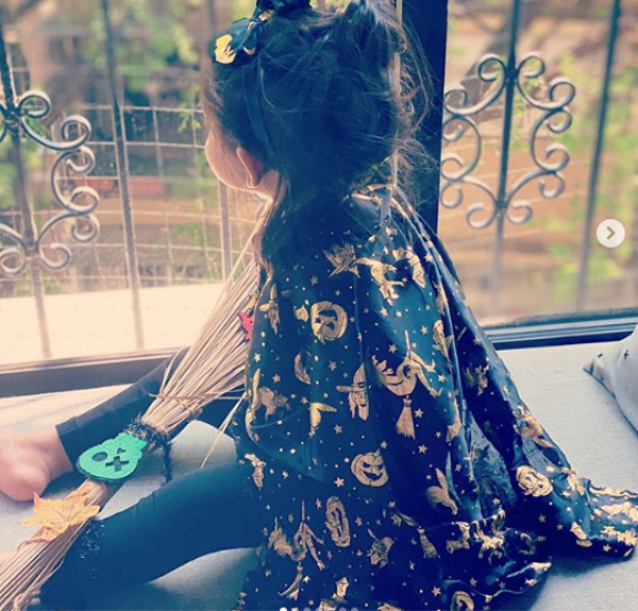 Halloween 2020: Neha Dhupia's daughter Mehr turns into a witch