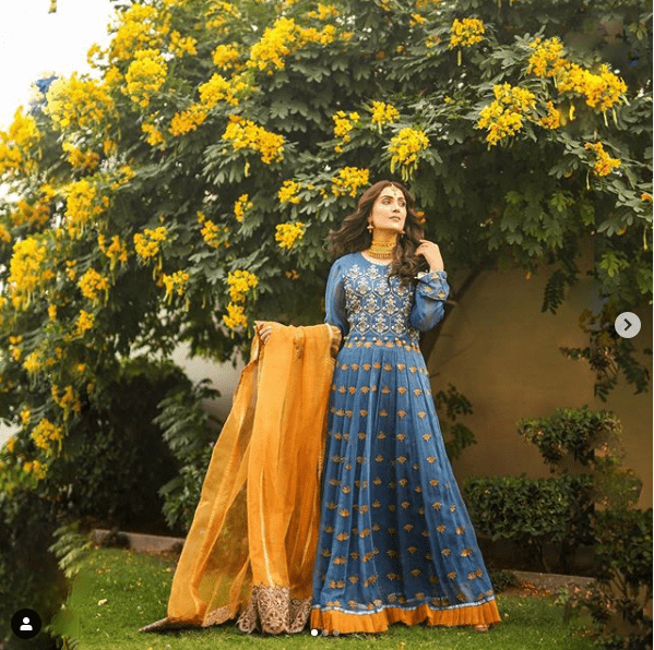 Ayeza Khan Limelight Winter Casual Dresses