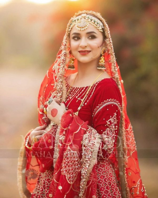 Yumna Zaidi Nails The Traditional Pakistani Bridal Dress