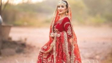 Yumna Zaidi Nails The Traditional Pakistani Bridal Dress