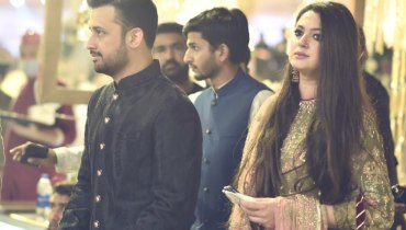 Atif Aslam's Wife Sarah Khan Wear Latest Wedding Dress