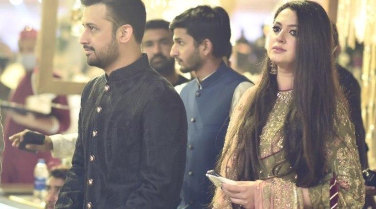 Atif Aslam's Wife Sarah Khan Wear Latest Wedding Dress
