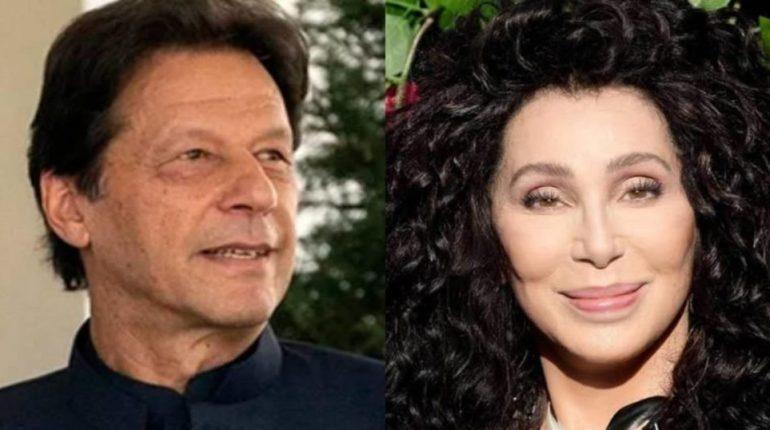 US Pop Star Cher Met Pakistan's Prime MinisterImran Khan