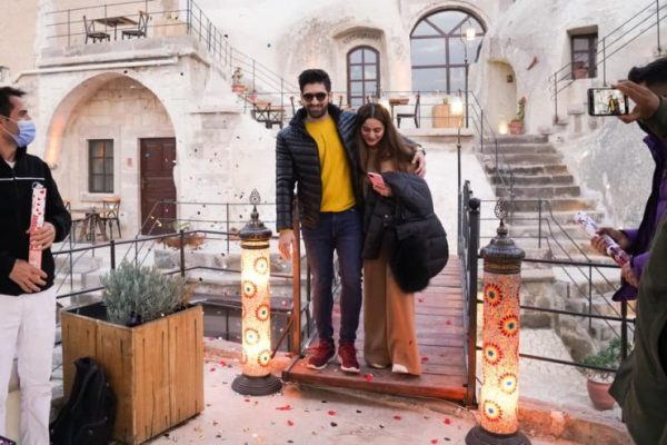Aiman Khan 22nd Birthday with Muneeb Butt in Turkey