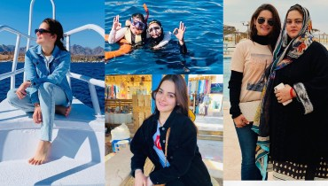 Minal Khan Shared Beautiful Pics of Trekking at Egypt