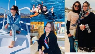 Minal Khan Shared Beautiful Pics of Trekking at Egypt