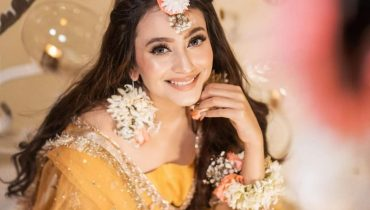Zarnish Khan's Latest Pakistani Mehndi Dress Photoshoot