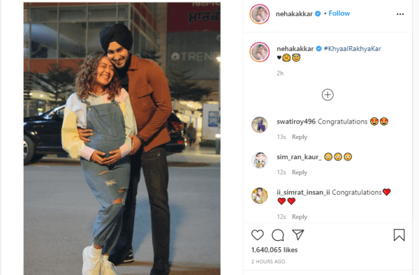 Is Neha Kakkar Pregnant? Singer Flaunts Baby Bump in Photo