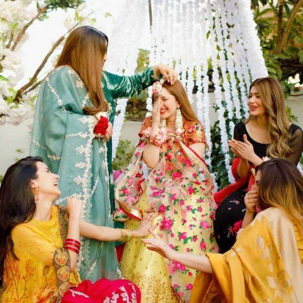 Adorable Mayoon Pictures Of Naimal Khawar Sister Fiza Khawar