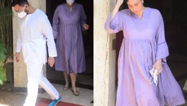Mom-to-be Kareena nails maternity fashion in lavender dress