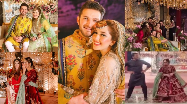 Exclusive Pictures From Mehndi Event Of Naimal Khawar Sister