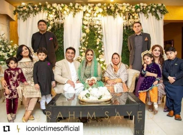 Nadia khan 3rd husband express his love for Nadia in live show