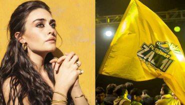 Turkish star Esra Bilgic representing Peshawar Zalmi in PSL 6