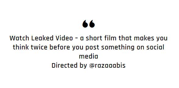 """Leaked Video"""