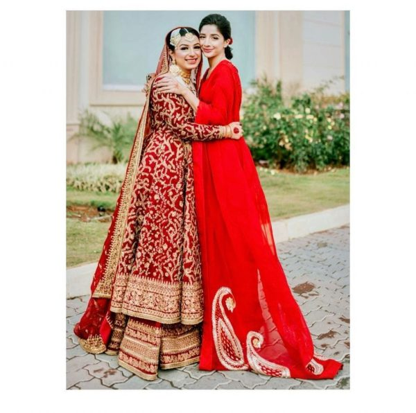 Mawra Hocane Looks Royal In Red Saree At A Friend Wedding