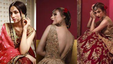 Actress Mashal Khan sizzles photos in Pakistani bridal dresses