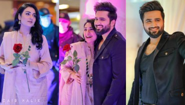 Sarah Khan with Falak Shabir spotted in Isb at Bonanza Satrangi