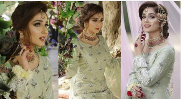 Sumaiyya Bukhsh Looking Gorgeous In Pakistani Bridal Dress