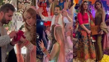 Aima Baig Spotted at Shahbaz Shigri Sister Wedding