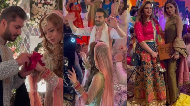 Aima Baig Spotted at Shahbaz Shigri Sister Wedding