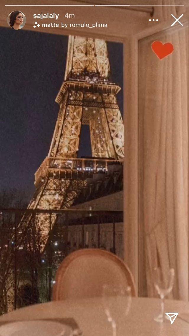 Ahad and Sajal Celebrating Wedding Anniversary In Paris
