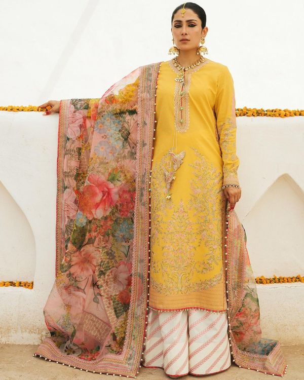 Ayeza Khan Shows Pretty Sight Of The Rajasthani Ensemble