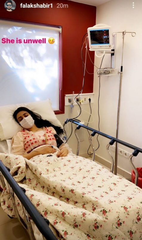 Actress Sarah Khan reveals why she was admitted to hospital