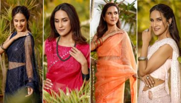 Anoushay Abbasi Looks Hot in Saris