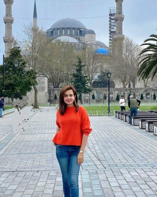 Sumbul Iqbal Enjoying Vacations from Turkey Trip